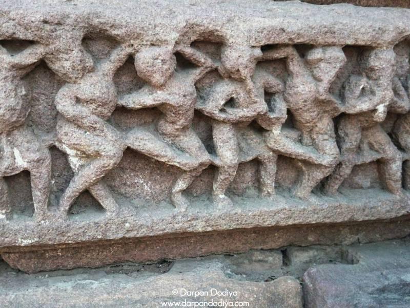 Adroitly Carved Sculptures Galateshwar Mahadev Temple Near Dakor Gujarat 1