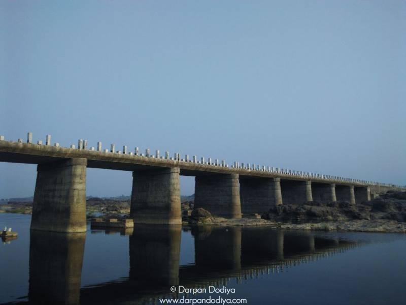 Bridge Over Mahi River Galateshwar Mahadev Temple Near Dakor Gujarat 7
