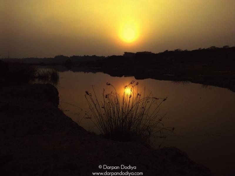 Bright Sunset Galateshwar Mahadev Temple Near Dakor Gujarat 9