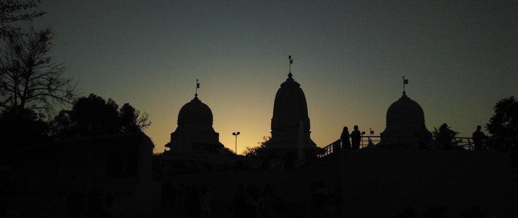 Temple at Sunset Dandakvan Ashram Vansda - Maharshi Sadafaldeo Ashram, Gujarat