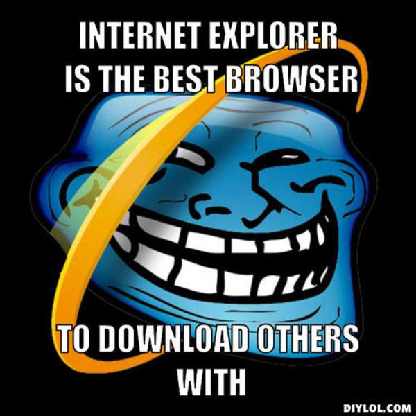 Internet Explorer Troll