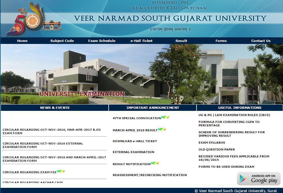 VNSGU Website Homepage [1]