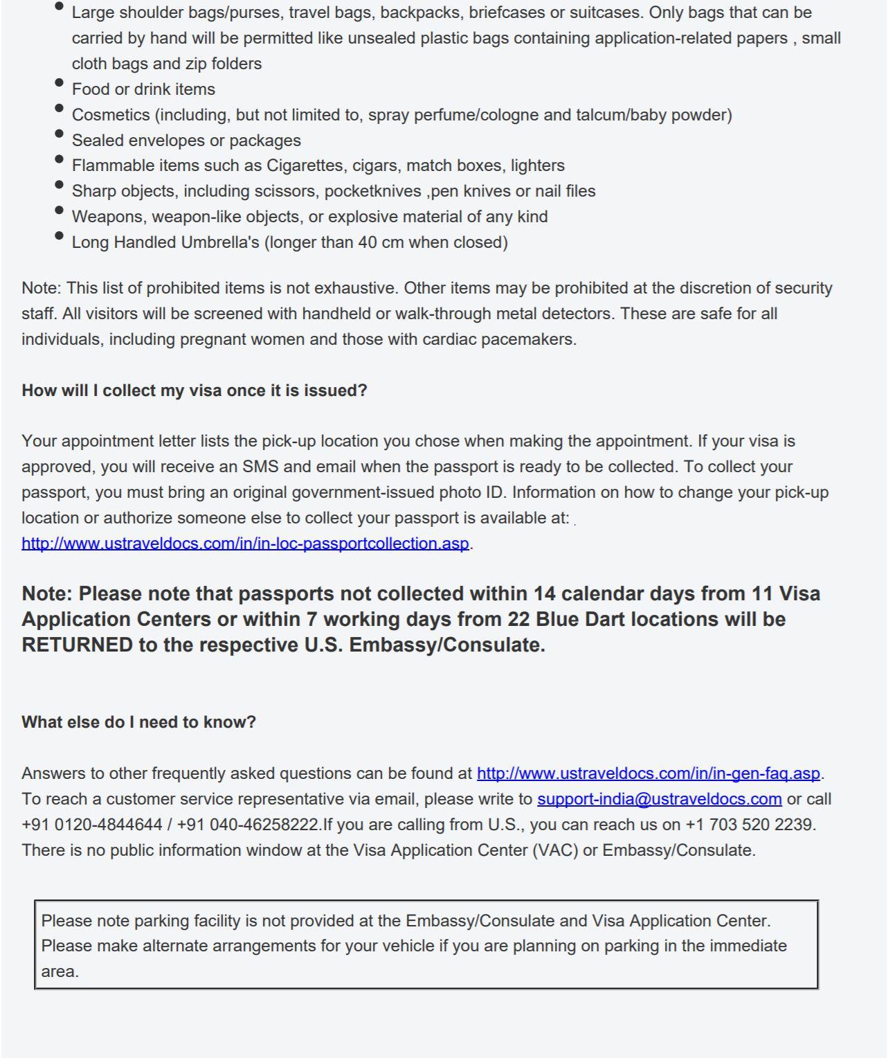 US Visa Appointment FAQs Part 2